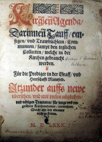 Kirchenagenda 1580